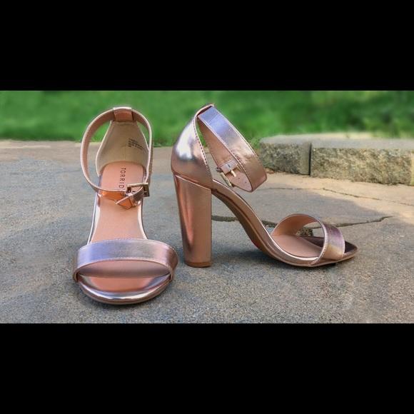 torrid Shoes   Torrid Rose Gold Block